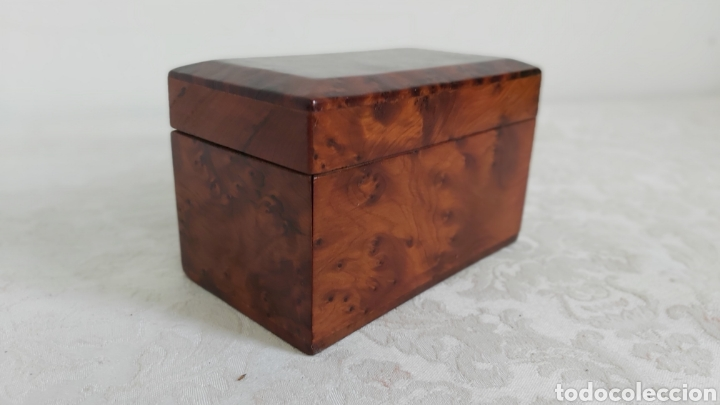 Cajas y cajitas metálicas: CAJA DE MADERA DE RAIZ O DE THUYA PARA GUARDAR BARAJAS - Foto 4 - 193362547