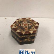 Cajas y cajitas metálicas: MINI CAJADE MARQUETERÍA. Lote 193652850