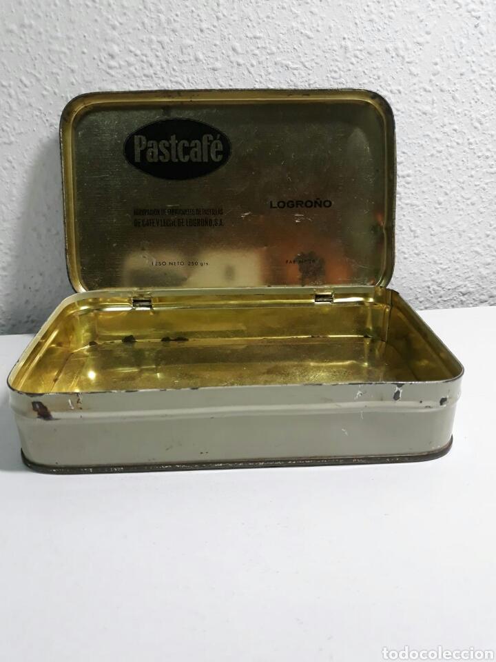 Cajas y cajitas metálicas: Caja de hojalata antigua litografiada pastcafe logroño ,litografia flamenca - Foto 4 - 194223996