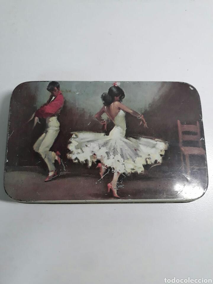 Cajas y cajitas metálicas: Caja de hojalata antigua litografiada pastcafe logroño ,litografia flamenca - Foto 9 - 194223996