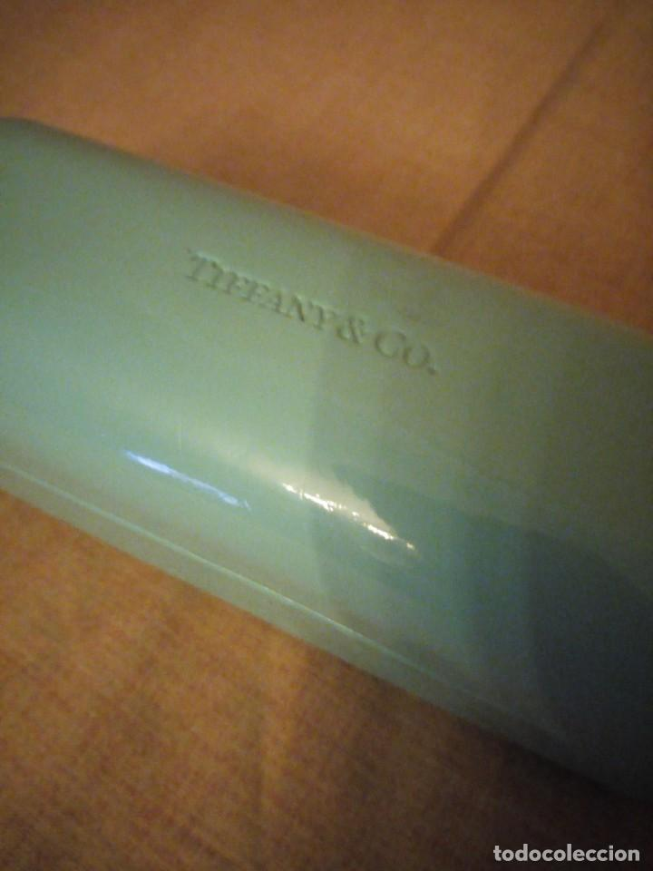 Cajas y cajitas metálicas: Estuche de gafas Tiffany & Co azul turquesa. - Foto 3 - 194241881