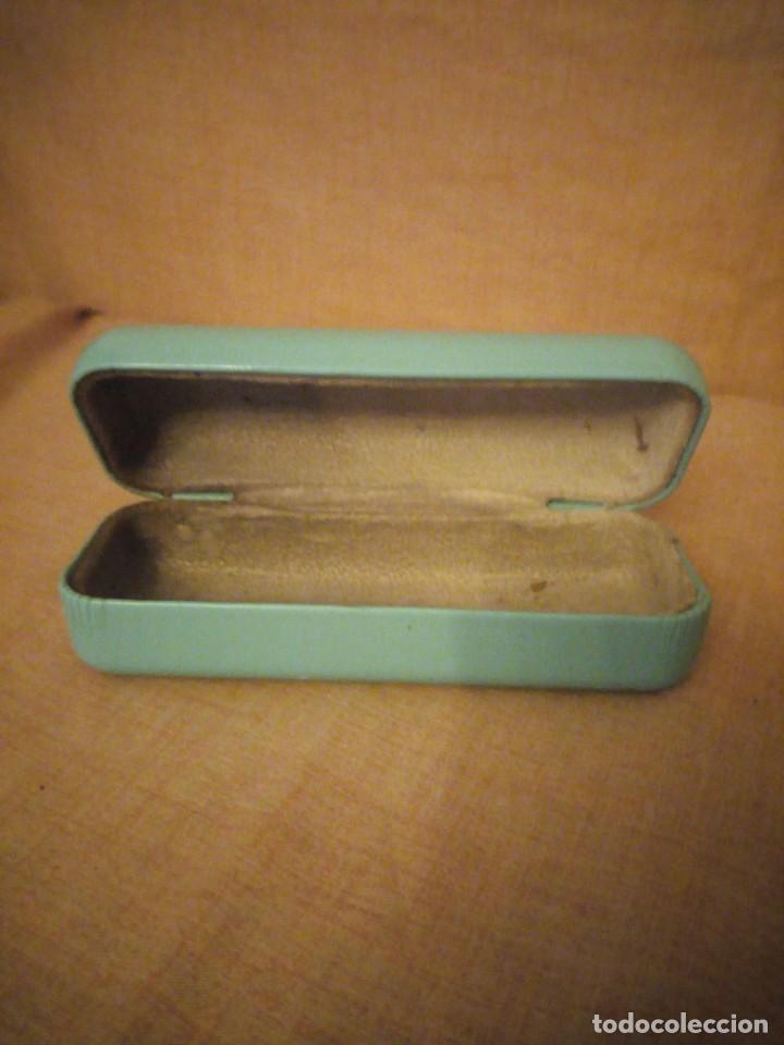 Cajas y cajitas metálicas: Estuche de gafas Tiffany & Co azul turquesa. - Foto 4 - 194241881
