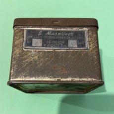 Cajas y cajitas metálicas: CAJA METALICA J.MASOLIVER-ANILLOS CORREDORES DE ACERO 8X7X6. Lote 194242166