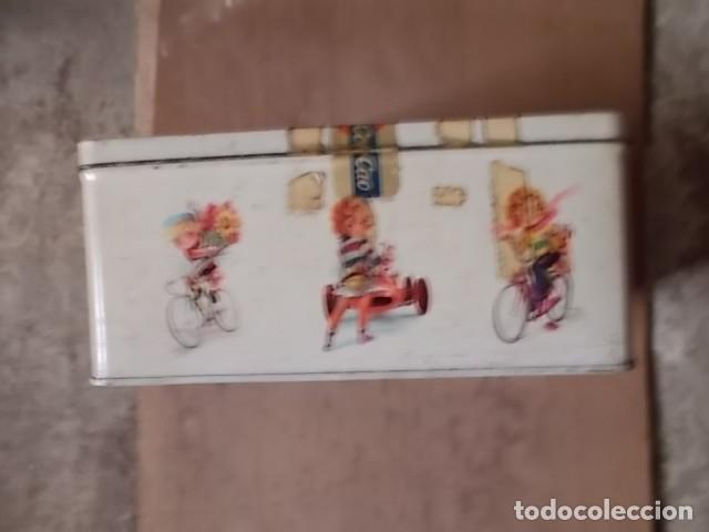 Cajas y cajitas metálicas: antigua caja metálica de cola cao - Foto 2 - 194245776