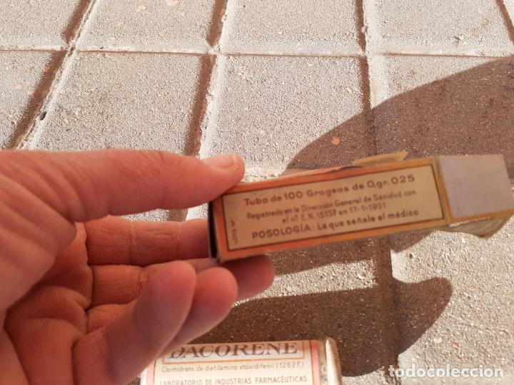 Cajas y cajitas metálicas: CAJA DE FARMACIA PASTILLAS DACORENE // SIN DESPRECINTAR - Foto 2 - 194246883