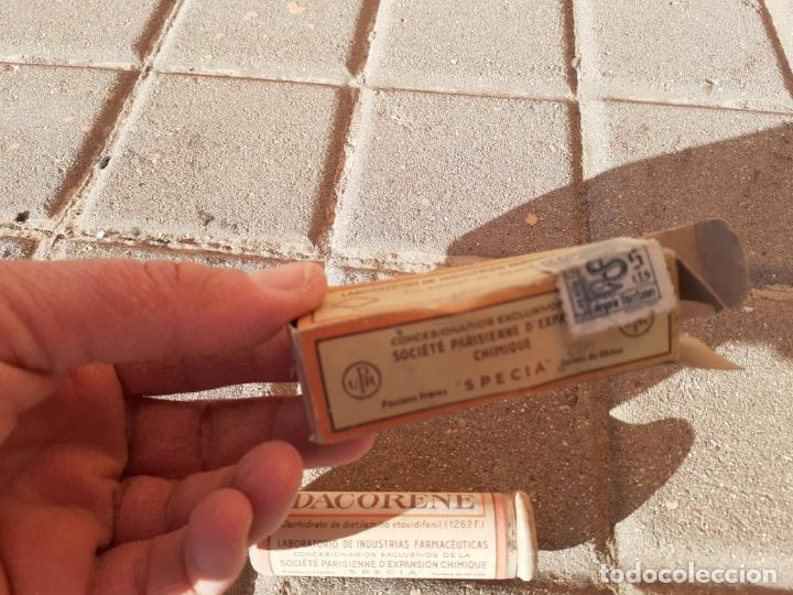 Cajas y cajitas metálicas: CAJA DE FARMACIA PASTILLAS DACORENE // SIN DESPRECINTAR - Foto 3 - 194246883