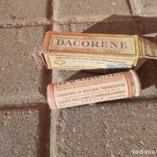 Cajas y cajitas metálicas: CAJA DE FARMACIA PASTILLAS DACORENE // SIN DESPRECINTAR. Lote 194246883