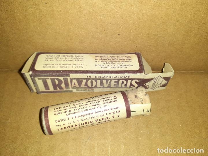 CAJA DE FARMACIA TRIAZOLVERIS LAB. VERIS // SIN DESPRECINTAR (Coleccionismo - Cajas y Cajitas Metálicas)