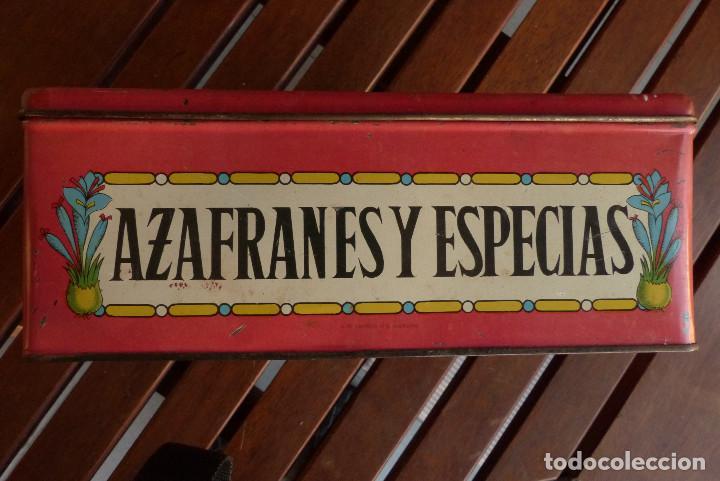 Cajas y cajitas metálicas: CAJA METALICA AZAFRANES Y ESPECIAS ANTIGUA - Foto 4 - 194254210