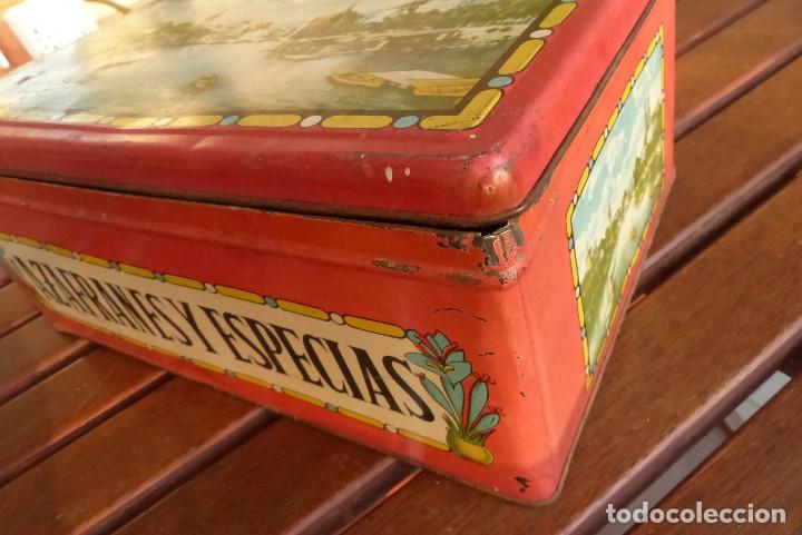 Cajas y cajitas metálicas: CAJA METALICA AZAFRANES Y ESPECIAS ANTIGUA - Foto 8 - 194254210