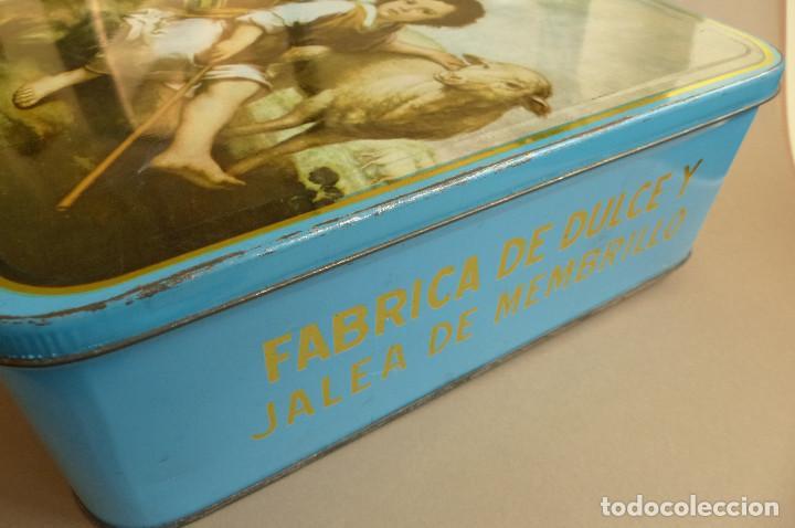 Cajas y cajitas metálicas: CAJA METALICA MEMBRILLO EL DIVINO PASTOR. ANTIGUA. BIEN CONSERVADA - Foto 2 - 194254258