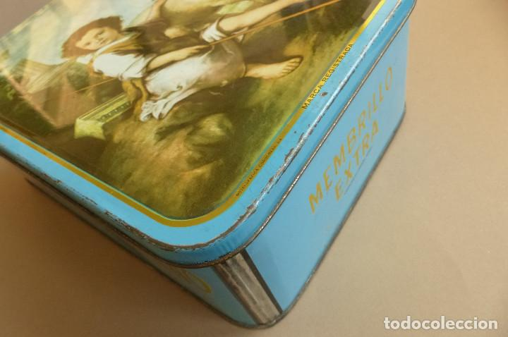 Cajas y cajitas metálicas: CAJA METALICA MEMBRILLO EL DIVINO PASTOR. ANTIGUA. BIEN CONSERVADA - Foto 3 - 194254258