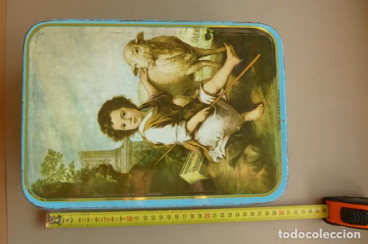 Cajas y cajitas metálicas: CAJA METALICA MEMBRILLO EL DIVINO PASTOR. ANTIGUA. BIEN CONSERVADA - Foto 10 - 194254258
