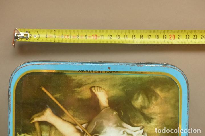 Cajas y cajitas metálicas: CAJA METALICA MEMBRILLO EL DIVINO PASTOR. ANTIGUA. BIEN CONSERVADA - Foto 11 - 194254258