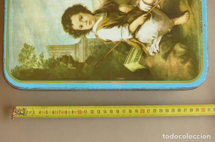 Cajas y cajitas metálicas: CAJA METALICA MEMBRILLO EL DIVINO PASTOR. ANTIGUA. BIEN CONSERVADA - Foto 12 - 194254258