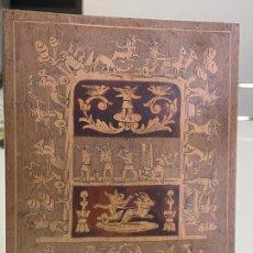 Cajas y cajitas metálicas: CAJA DE MADERA CON ESCENA DE ANGELES PINTADOS A MANO Y MARQUETERIA . Lote 194267905