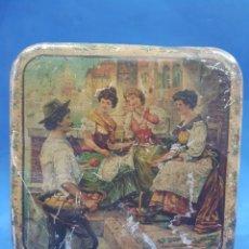 Cajas y cajitas metálicas: CAJA DE HOJALATA ,HUNTLEY & PALMERS , ENGLAD , BISCUITS MANUFACTURES. Lote 194275817