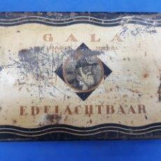 Cajas y cajitas metálicas: CAJA DE TABACO DE HOJALATA , GALA , EDELACHTBAAR , HOLANDESA. Lote 194276335