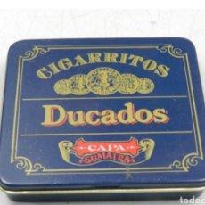 Cajas y cajitas metálicas: CAJA TABACO DUCADOS. Lote 194294300