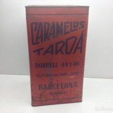 Cajas y cajitas metálicas: GRAN CAJA CARAMELOS FELIX TARDA - BARCELONA CAJA LITOGRAFIADA. Lote 194300323