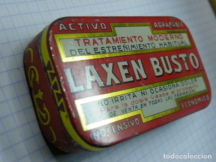 CAJA DE CHAPA LAXEN BUSTO--MAS LOTES GANADOS MAS DESCUENTO. (ELCOFREDELABUELO) (Coleccionismo - Cajas y Cajitas Metálicas)
