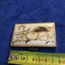 Cajas y cajitas metálicas: CAJA MUSICA SANKIO JAPONESA ANTIGUA. PASTILLERO. Lote 194360547