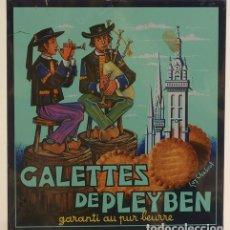 Cajas y cajitas metálicas: CAJA METALICA DE GALETAS FRANCESA CALETTES DE PLEYBEN 1985. Lote 194364675