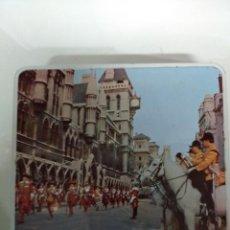 Cajas y cajitas metálicas: CAJA DE LATA DOMINE NOS DIRIGE.. Lote 194406518