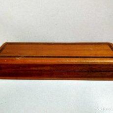 Cajas y cajitas metálicas: CAJA DE MADERA ALARGADA. Lote 194516861