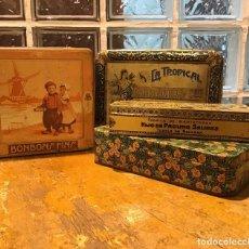 Cajas y cajitas metálicas: ANTIGUAS CAJAS SEREGRAFIADAS. Lote 194519655