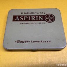Cajas y cajitas metálicas: ANTIGUA CAJA METALICA DE ASPIRINAS - ASPIRIN - BAYER LEVERKUSEN. MEDICAMENTO. Lote 194611265