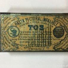 Cajas y cajitas metálicas: CAJITA DE PASTA PECTORAL INFALIBLE. Lote 194663728