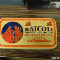"""Cajas y cajitas metálicas: CAJA METÁLICA """"BAICOLI"""" BISCOTTI VENEZIANI. ANGELO COLUSSI. VACIA. MBC. . Lote 194669781"""