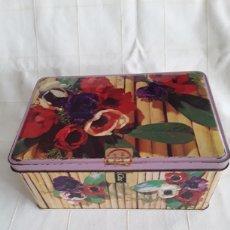 Cajas y cajitas metálicas: CAJA DE HOJALATA DE COLACAO SERIE FLORES. Lote 194690921