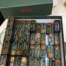 Cajas y cajitas metálicas: LOTE ANTIGUAS CAJAS DE HOJALATA TINTES SOL (LOTE 84 CAJAS). Lote 194700960