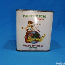 Cajas y cajitas metálicas: LATA DE PIMENTÓN PURO, REVERTE. PASCUAL REVERTE S.L. ESPINARDO. Lote 194758182
