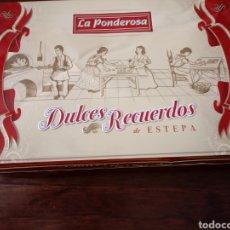 Cajas y cajitas metálicas: LA PONDEROSA, DULCES RECUERDOS. Lote 194759570
