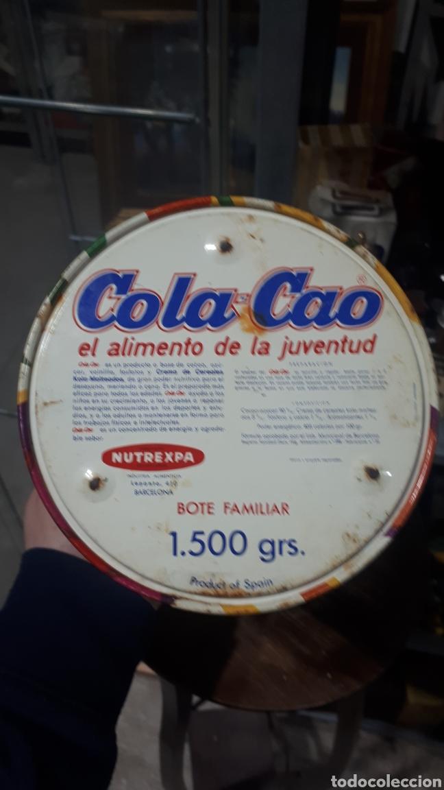 Cajas y cajitas metálicas: Antiguo bote redondo cilíndrico COLACAO - Foto 4 - 194875957