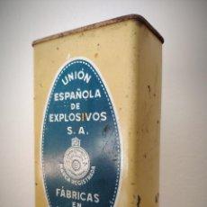 Cajas y cajitas metálicas: CAJA LATA POLVORA P. S. B. 250 GR. - UNION ESPAÑOLA DE EXPLOSIVOS LUGONES Y CAYES - ASTURIAS. Lote 194881936