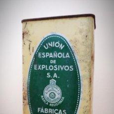 Cajas y cajitas metálicas: CAJA LATA POLVORA P. S. B. 250 GR. - UNION ESPAÑOLA DE EXPLOSIVOS LUGONES Y CAYES - ASTURIAS. Lote 194882417