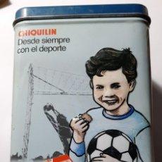 Cajas y cajitas metálicas: CAJA METÁLICA GALLETAS CHIQUILÍN. Lote 194890827