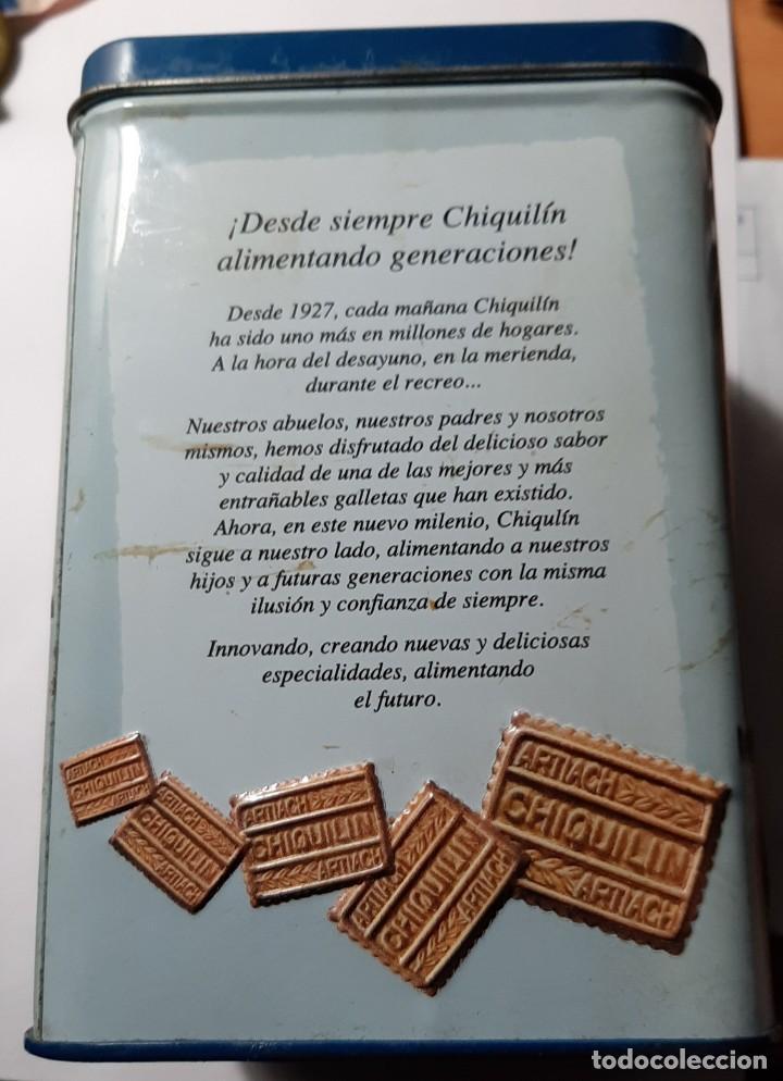 Cajas y cajitas metálicas: Caja metálica galletas Chiquilín - Foto 2 - 194890827