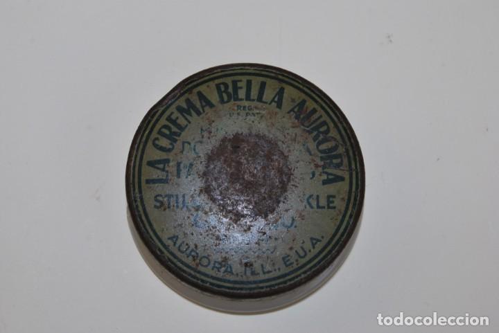 Cajas y cajitas metálicas: BOTE DE CREMA BELLA AURORA - CRISTAL Y METAL - AÑOS 30 - Foto 2 - 194894863