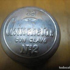 Cajas y cajitas metálicas: ANTIGUA CAJITA DE CHINCHETAS. VACIA. Lote 194896907