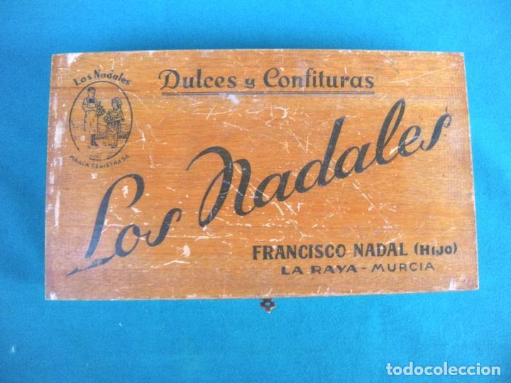 CAJA DULCES Y CONFITURAS LOS NADALES FRANCISCO NADAL LA RAYA MURCIA (Coleccionismo - Cajas y Cajitas Metálicas)