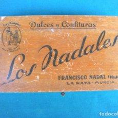 Cajas y cajitas metálicas: CAJA DULCES Y CONFITURAS LOS NADALES FRANCISCO NADAL LA RAYA MURCIA. Lote 194899190