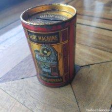 Cajas y cajitas metálicas: HUCHA SPOT MACHINES TRAGAPERRAS LATA. Lote 194901176