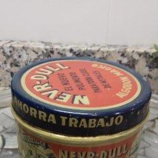 Cajas y cajitas metálicas: LATA DE HOJALATA NEVR-DULL. Lote 194906016