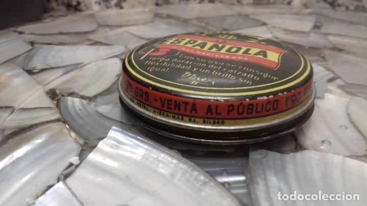Cajas y cajitas metálicas: ANTIGUA LATA DE CREMA LA ESPAÑOLA - Foto 2 - 194906191