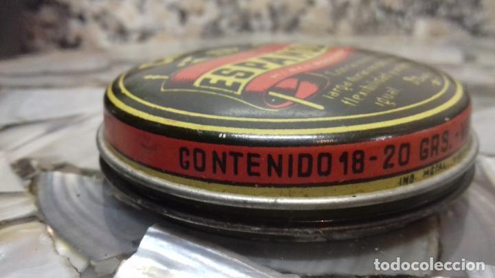Cajas y cajitas metálicas: ANTIGUA LATA DE CREMA LA ESPAÑOLA - Foto 3 - 194906191